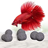 SunGrow 10 Calcium-Rich Mineral Beads for Betta, 0.4 Inch, Tourmaline Balls for Perfect Nutrient Balance, with Over 30 Beneficial Minerals for Active Fish, Décor for Fish Tank, 10-Pieces