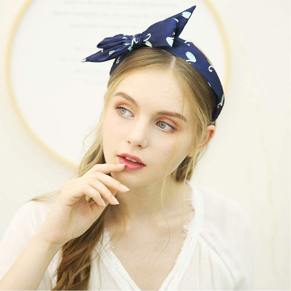 F FADVES Headbands for Women Wide Hairbands Bow Accessories Elastic Head Wrap Cute Outdoor Hair Accessories for Girls