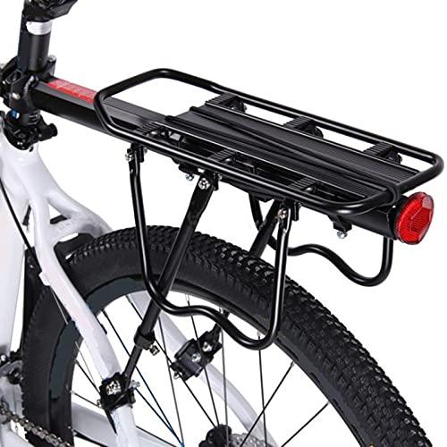 自転車荷台 リアキャリア バイク アルミニウム合金素材 ワンタッチ 耐荷重80kg 荷物ラック 安定 汎用タイプ 固定用ゴム紐・反射板・取付工具付き 日本語取付説明書付き