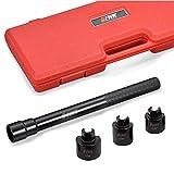 EWK 4 PCS Inner Tie Rod Removal Tool Kit Tie Rod Puller Tool for GM Ford Chrysler Honda Steering