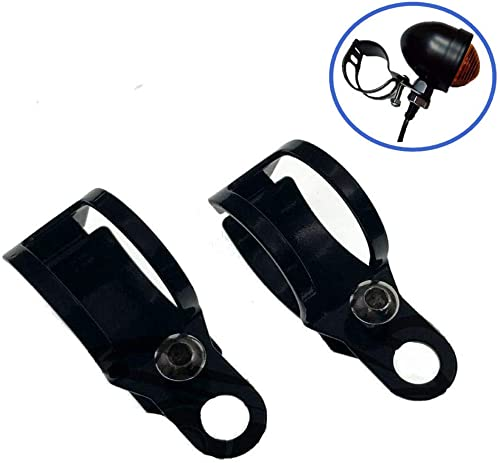 wholesale XINDELL 1 Pair Motorcycle Turn wholesale Signal Relocation Bracket Metal Motorcycle Modified lowest Turn Signal Light Indicator Mount Fork Clamp Moped Blinker Kit 31-43mm, Black online sale