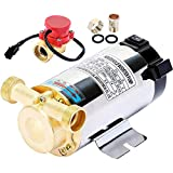 VEVOR Bomba de Refuerzo de Presión de Agua, Flujo Máximo 20 L/min, Bomba Circuladora Automática, 90 W, Bomba de Agua, para Mejorar la Efectividad de Grifos, Lavadoras, Calderas, Calentadores de Agua