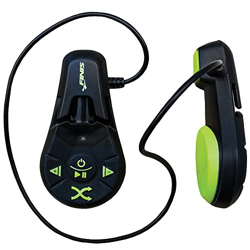 Finis DUO underwater - Reproductor MP3, color negro/ verde ácido
