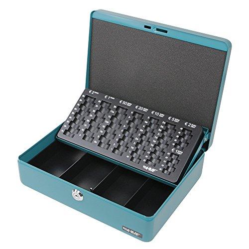 HMF 10015-24 Caja de caudales, bandeja para contar monedas 30 x 24 x 9 cm,...
