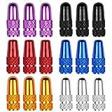 Jinlaili 18PCS Presta Tapas de Válvula para Bicicleta, Tapones Valvula Bicicleta de Aluminio, Multicolor Tapas de Válvulas Anodizado, Cubiertas de Polvo Válvula para Bicicleta Montaña Carretera