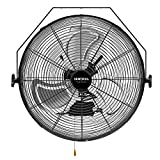 VENTISOL 18 Inch Wall Mounted Fan 4,012CFM High Velocity 3 Speed Adjustable Tilting Fan Head Full Sealed Motor for Home, Commercial, Residential,Warehouse, Workshop,Black