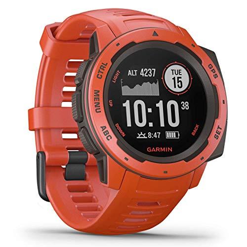 Garmin Instinct, GPS Watch, Flame Red, WW (Reacondicionado)