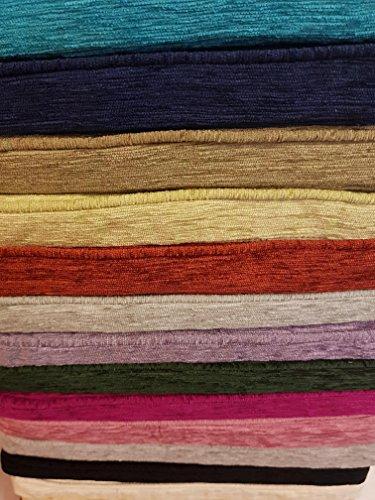 Homestreet Galette de Chaise Carrée de Luxe en Tissu Chenille de Haute qualité Teintes Profondes fabriqué au Royaume-Uni à partir