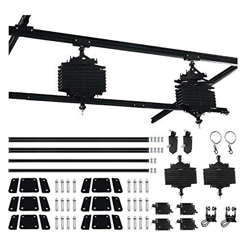Sistema de riel de montaje de iluminación de estudio de 78 x 78 pulgadas, sistema de riel de montaje en techo, 2 piezas, pantógrafo para luces de techo, sistema de riel de estudio