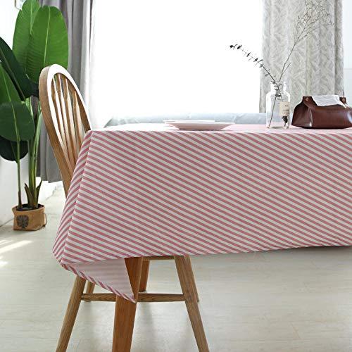 ZXCN Manteles Antimanchas Mantel Rectangular Suave y Resistente Al Desgaste de Impermeable Vintage Decoración Rosa 90×90cm