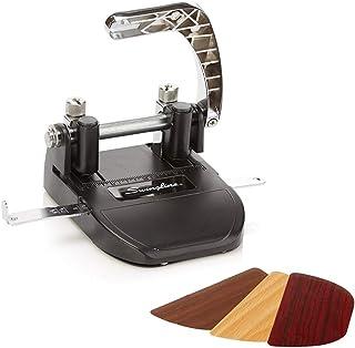 Swingline 2 Hole Punch, Adjustable, Heavy Duty Hole Puncher, 40 Sheet Punch Capacity, Black/Silver (74060)