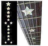 Inlaystickers F-093EB-WT - Marcadores de trastes para guitarras y bajos, diseño de Everly Brothers Stars