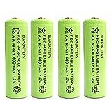 Pack of 4 x BuyaBattery UK AA Rechargeable Solar Light Batteries 600mAh 1.2V