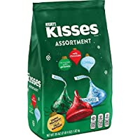 Hershey's Kisses Chocolate Holiday Assortment Candy Bag 36 Oz