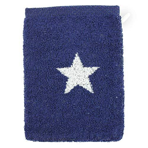 Linnea Gant de Toilette 16x21 cm 100% Coton 480 g/m2 Stars Bleu Marine