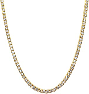 NIVS BLING 18k Yellow Gold-Plated Stainless Steel 4mm Franco Chain 20-36 Inches