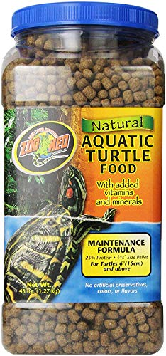 Zoo Med Natural Aquatic Turtle Food 2 Pack, 45oz each (90oz Total)