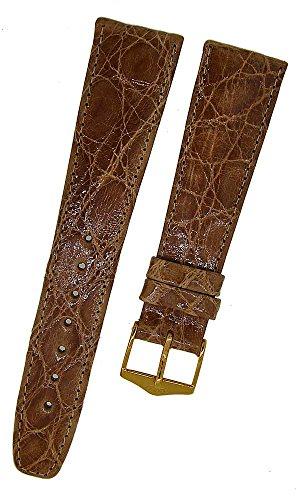 Orig. FORTIS Uhrenarmband LEDER braun Kroko Dornschließe 20mm NEU 9122