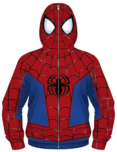 Silver Basic Chaqueta con Cremallera para Niños Superhéroe Capitán América Iron Man Disfraz de Halloween