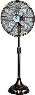 Ventiladores de Pedestal Ventilador de Piso Retro de Metal de 21 Pulgadas, Ajuste de 3 velocidades se Puede sacudir -54W (Color: