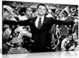 Leinwand-Bild mit Leonardo DiCaprio in Wolf Of Wall Street,
