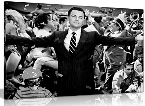 Leinwand-Bild mit Leonardo DiCaprio in Wolf Of Wall Street, Kunstdruck, A0 91x61cm (36x24in)