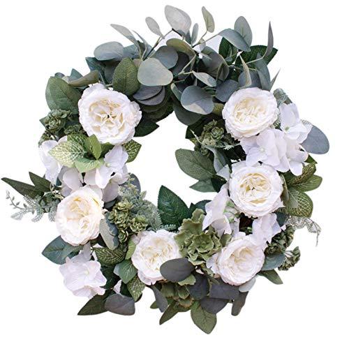 Homemust Künstlicher Blumen-Kranz dekorativ für Haustür-Büro-Wand-Garten-Hochzeits-Festival-Dekor
