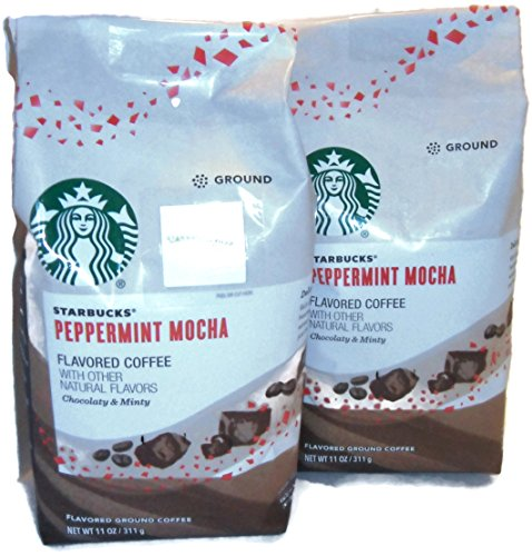 Starbucks Peppermint Mocha Flavored Ground Coffee 11 oz... 2 Bags