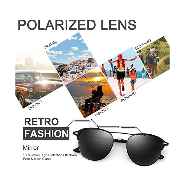 FEIDU Polarized Sunglasses for Women Men -HD Anti-Glare Lenses UV 400 Protection