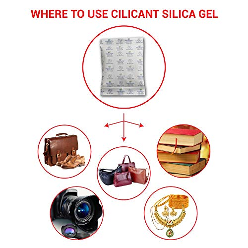 CILICAnT Silica Gel Sachets Desiccant Moisture Absorber Packets (pack 0f 20, 2gm each) (Moisture Absorber for camera bags, cameras, DSLR, lenses, mobile phone, electronic gadgets)