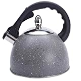 Stainless Steel Whistling Kettle, Stove Top Whistling Teapot, Tea With Ergonomic Stainless Steel, Induction Cooktop Whistle Teapot, 3L