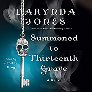 Summoned to Thirteenth Grave     Charley Davidson, Book 13              Written by:                                                                                                                                 Darynda Jones                               Narrated by:                                                                                                                                 Lorelei King                      Length: 8 hrs and 39 mins     18 ratings     Overall 4.7