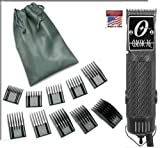Oster Classic 76 Carbon Fiber Design Limited Edition Hair Clipper + 10 Piece Combs