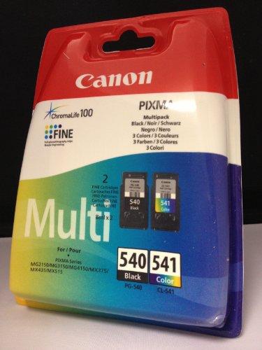 Cartouches d'encre originales pour Canon Pixma MG2150 MX375 MX515 MX 435 (Noir/Couleur) Cartouches d'encre