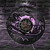 LIMN Reloj de Pared Silueta de Bicicleta de montaña Luz de Pared Disco de Vinilo Reloj de Pared con luz Nocturna LED Bicicleta de Tierra Iluminación Decorativa Lámparas de Pared LED para Interiores