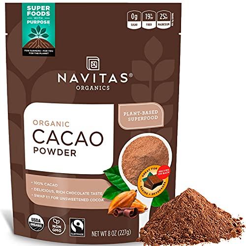 Navitas Organics Cacao Powder, 8oz. Bag, 15 Servings — Organic,...
