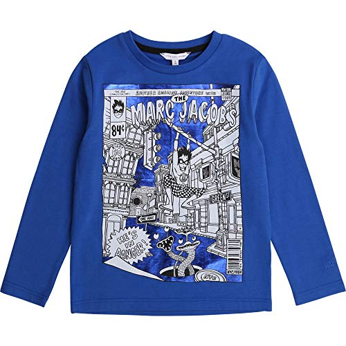 Little Marc Jacobs Langarm T-Shirt Kind BLAUGRAU 06A