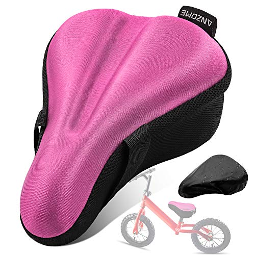 ANZOME Kids Gel Bike Seat Cushion Cover for Boys & Girls Bicycle Seats, 9'x6' Memory Foam Child Bike Seat Cover Extra Soft Small Bicycle Saddle Pad...