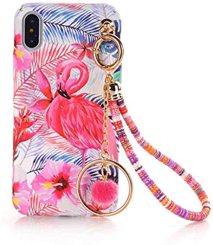 Who-Care Art Drawing Cartoon Floral Hard Pc Phone Case For iPhone X XS MAX XR 6S 7 8 6 Plus Ball Chain Tassels Pompom Coque,M04,For iPhone 8 Plus-M03-Forfor Iphone7Plus
