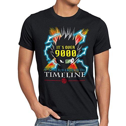style3 Goku Timeline 9000 T-Shirt Homme, Taille:3XL;Couleur:Noir