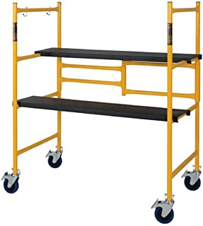 Best MetalTech 4 Foot High Portable Adjustable Platform Basic Mini Mobile Scaffolding Ladder with Locking Wheels Review