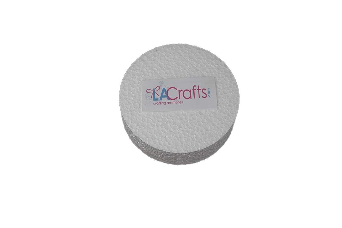 LA Crafts Brand 3x1 Inch Smooth Foam Craft Disc - 12 Pack kodhb33244022986