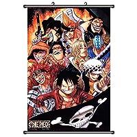 ワンピースアニメ巻物ポスターマンガ壁アート家の装飾壁画 19.7x29.5inch/50x75cm