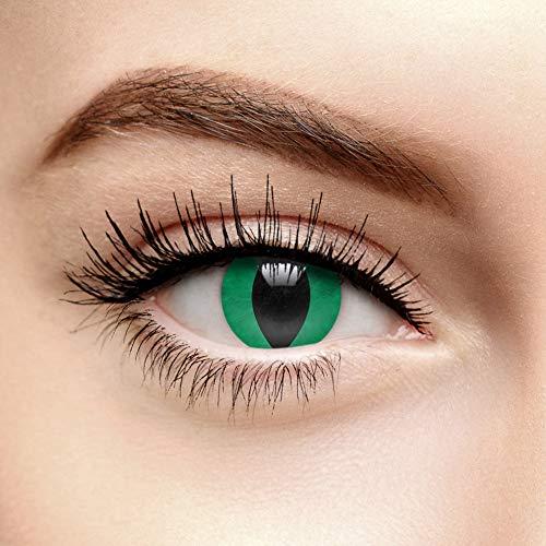 Chromaview Kobraauge Farbige Kontaktlinsen Ohne Stärke Grün (Tageslinsen)