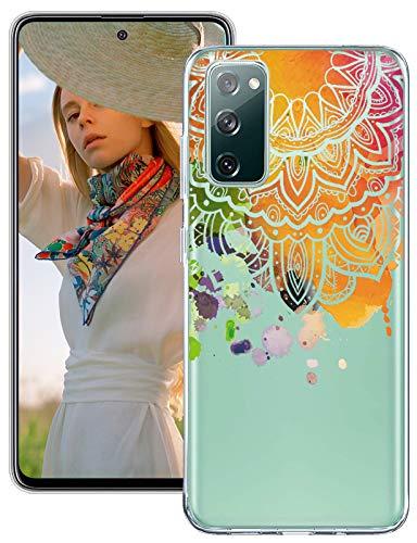 Funda de flores para Samsung Galaxy S20 Fe, funda silicona transparente, mandala, teléfono móvil, fina y suave, TPU resistente, niñas, cristal transparente Fe 5G Case