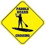 パドルボード交差 金属板ブリキ看板警告サイン注意サイン表示パネル情報サイン金属安全サイン