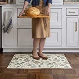 GelPro Adelle Designer Washable Kitchen Rug + Anti-Fatigue Mat For Home, 24x34, Blue Jewel