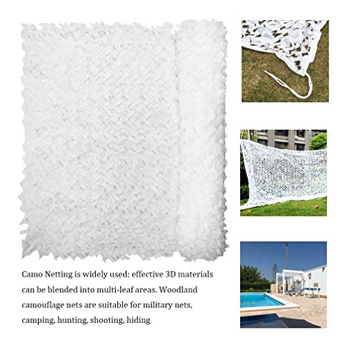 White Camo Netting 4 * 4M (13.1 * 13.1FT) Jacht Camouflagenetten Outdoor Camping Party Bar Tuindecoratie Nets Zon Shelter (Color : White, Size : 8 * 8M(26.2 * 26.2ft))