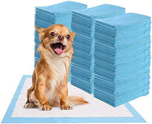 100 unidades de almohadillas higiénicas para cachorros de mascotas, almohadillas de entrenamiento para cachorros, cachorros, perros y cachorros (33 x 45 cm)