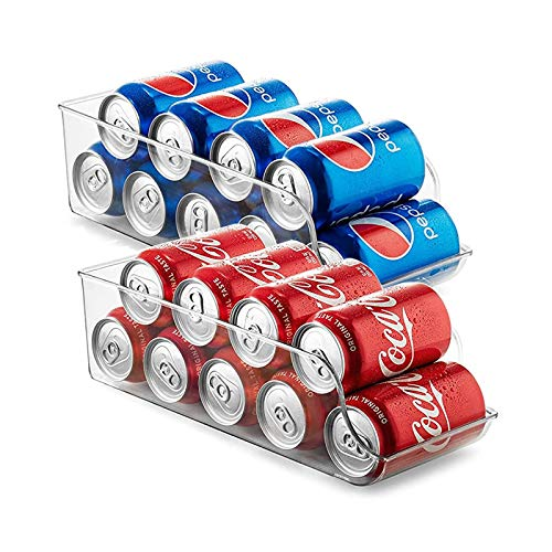 Newthinking Acrylic Fridge Storage Drawer Organiser, Eco-Friendly Clear Canned Food Storage Tray...